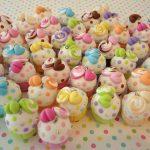 Polymer clay cupcake charms (12)