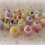 Polymer clay cupcake charms (13)