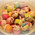 Polymer clay cupcake charms (17)