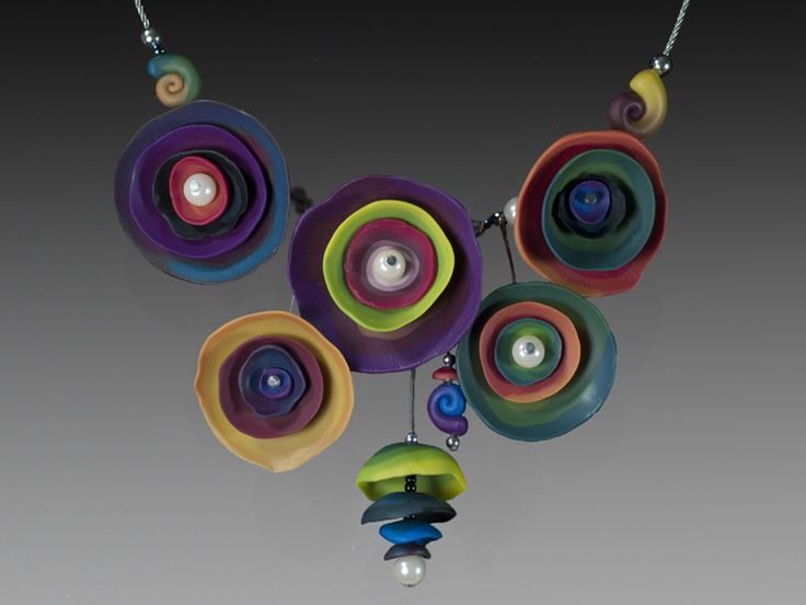Polymer clay exquisite necklace (14)