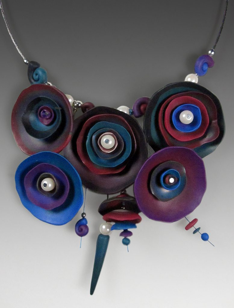 Polymer clay exquisite necklace (2)