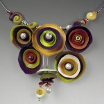 Polymer clay exquisite necklace (4)