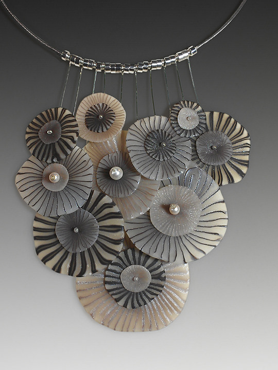 Polymer clay exquisite necklace
