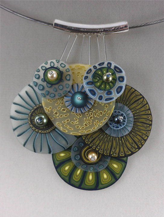 Polymer clay exquisite necklace (9)