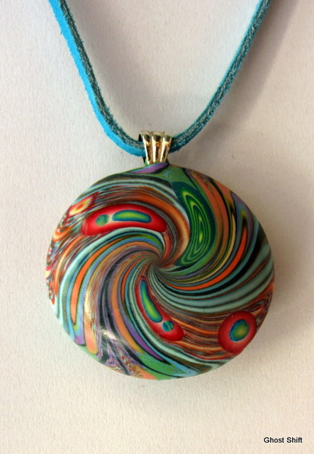 Polymer clay lentil beads (6)