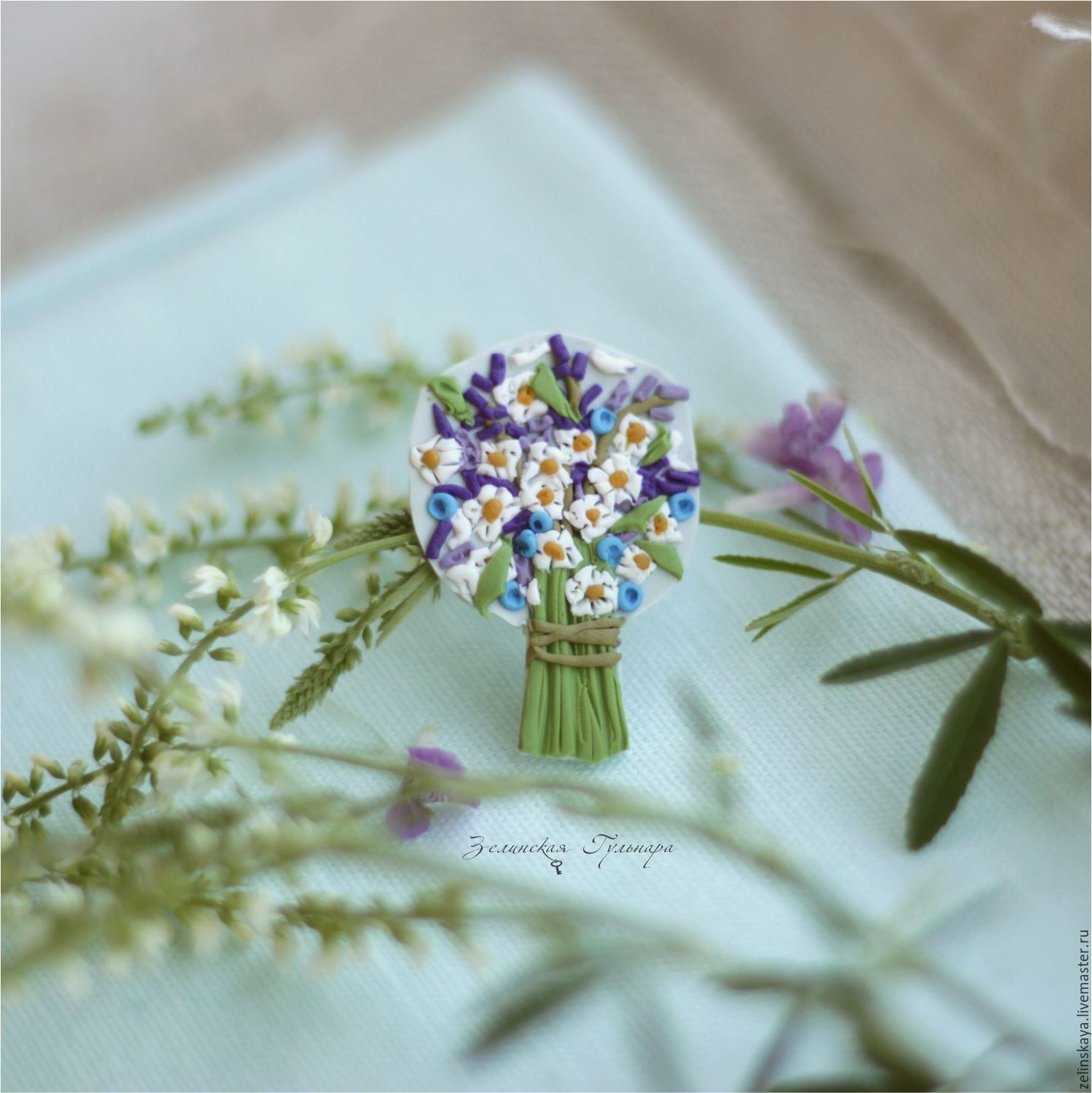 Clay miniature bouquet brooch polymer clay miniature bouquet brooch izmirmasajfo Images