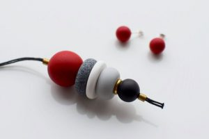 Polymer clay beaded minimalist necklace ideas