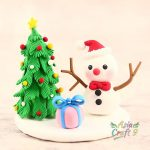 Penguin drag the gift sledge clay miniature Christmas decoration