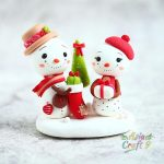 Clay Irish Santa Claus ornament, Clay Christmas figure decoration
