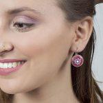 Blue earrings, turquoise jewelry, Romantic jewelry, romantic jewelry, feminine earrings, Tova Reshef, Floral earrings