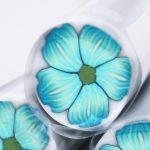 Polymer cane flower petals wrap raw cane