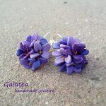 Wild Violet earrings Purple flower earrings Woodland Spring jewelry Violet Nature earrings Wedding jewelry for Moms earrings Sister gift