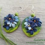 Wild violets Earrings Woodland Earrings Nature jewelry Blue Floral earrings Spring Blossoms jewelry Woodland wedding jewelry for Moms gift