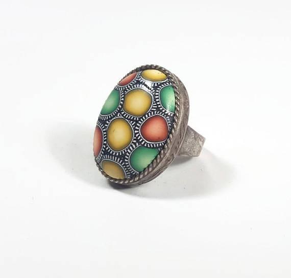 Xmas cool gift, Holiday gift ring, Christmas gift for teen, Xmas gift for wife, Cool trendy ring, statement ring, Bohemian ring colorful