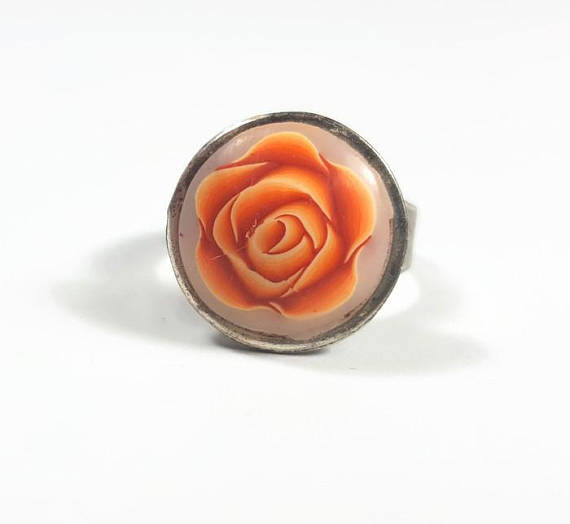 Polymer clay rose cane ring ideas