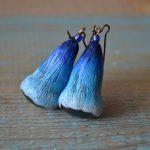 Beige polymer clay earrings