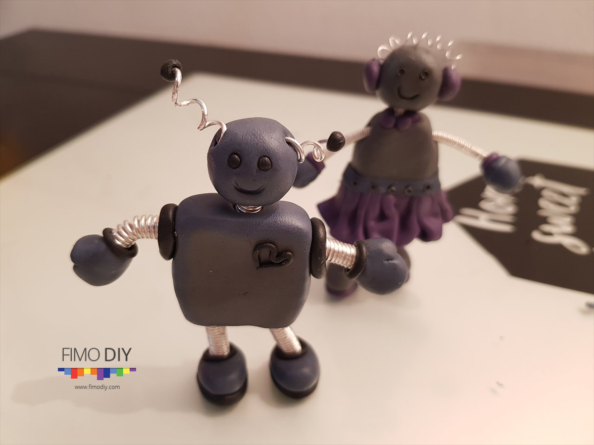 Polymer clay robot