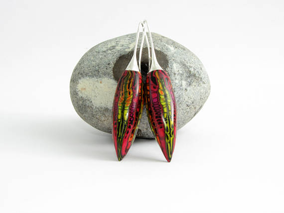 Unique polymer clay earrings - ideas for an envied look