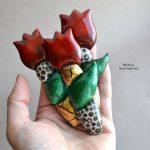 Fimo flower brooch - tulip jewelry