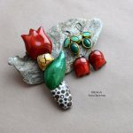 Fimo flower brooch - tulip jewelry (4)