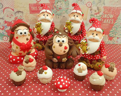 Polymer Clay Christmas Decorations.Polymer Clay Christmas Decor Items 4