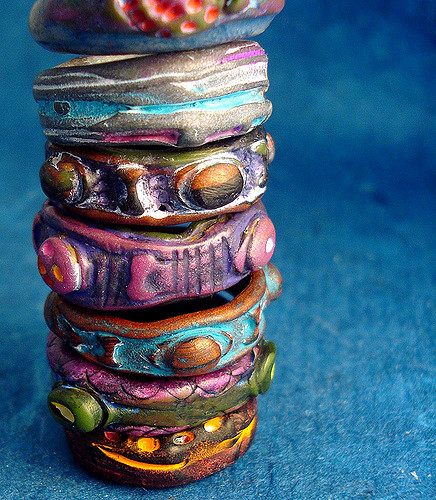 Dose of inspiration: organic style polymer clay jewelry