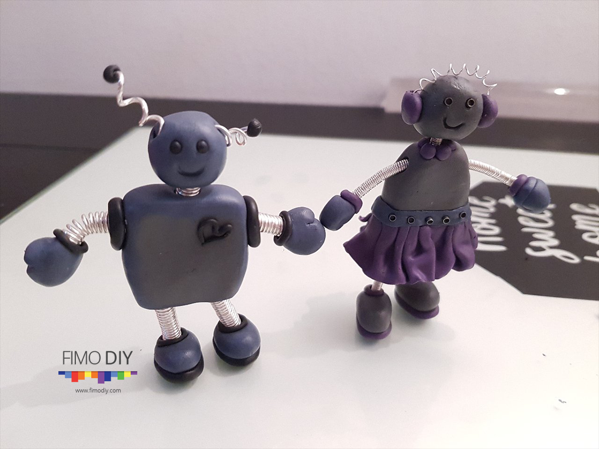 polymer-clay-robot