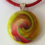 polymer clay round bead