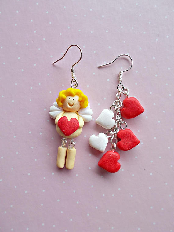 Cute Valentine Earrings Gifts - Valentines Day Earrings - Valentines Day Jewelry - Valentine's Day Kids - Gifts for her