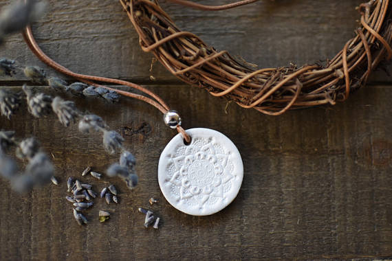 Polymer clay lace like jewelry