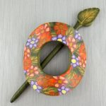 Floral Garden Shawl Scarf Hair Pin