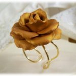 Large Gold Rose Ring – Gold Rose Jewelry, Gold Flower Ring