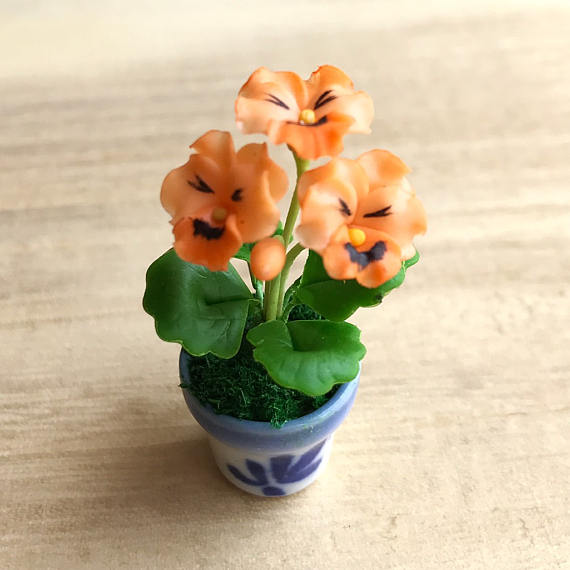 Miniature Flowerminiature Flower Potminiature Vasedollhouse