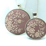 Mother Daughter Necklace Set Mom and Daughter Jewelry Cherry Blossom Necklace for Mom from Daughter Necklaces
