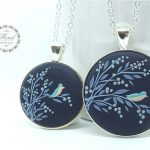 Mom Daughter Jewelry Sets Blue Flower Necklace Mother Daughter Necklace Set Big Little Sisters Necklace