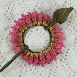 Pink Flower Shawl Scarf Hair Pin