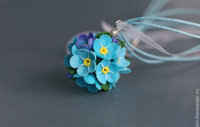 Polymer clay flowers wedding corsages