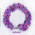 Polymer clay Lilac flowers jewelry – Polymer clay Lilac bracelet- floral bracelet