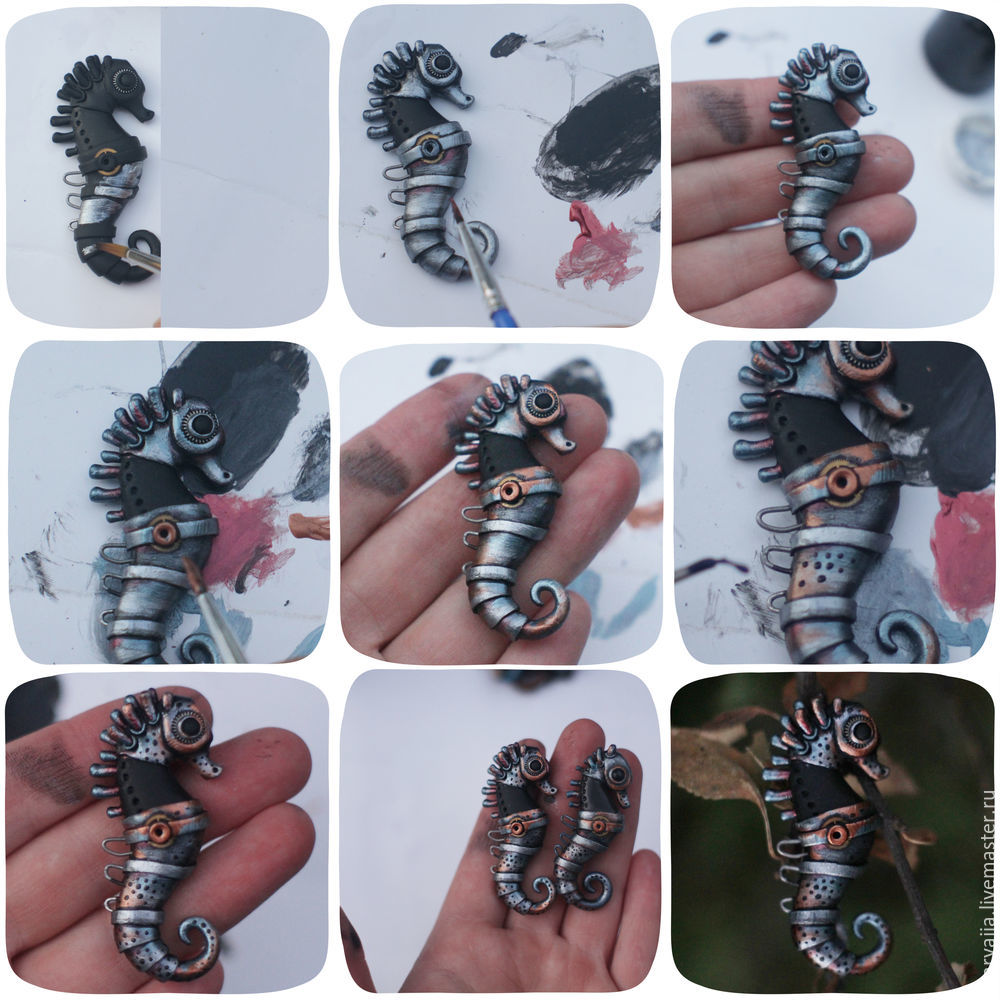 Polymer clay Seahorse - DIY step by step tutorial
