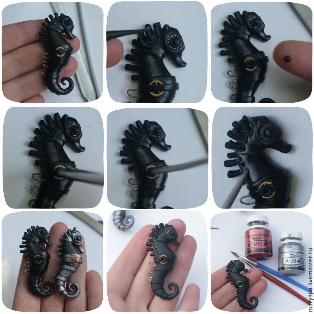 Polymer clay Seahorse - DIY step by step tutorial
