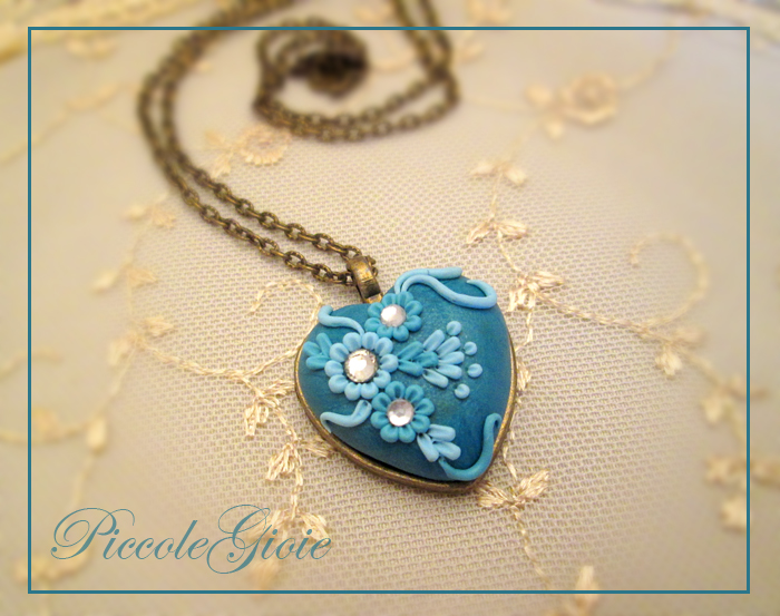 Polymer Clay Embroidered Heart Pendant Ideas For Valentine S Day