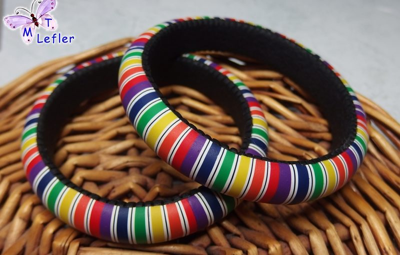 Faux amber polymer clay bracelet - DIY tutorial