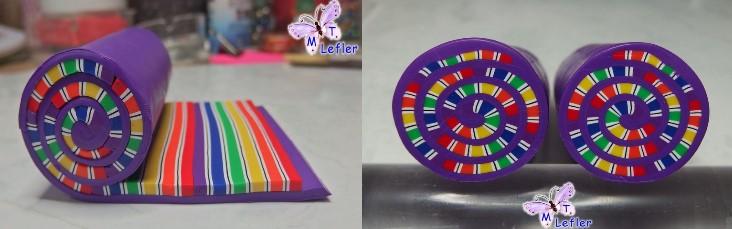 Polymer clay rainbow cane bracelet tutorial