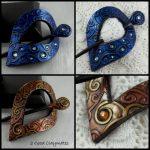 Shawl Pin – Teardrop – Fiesta Spiral