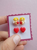 Handmade polymer clay Valentine's day gifts