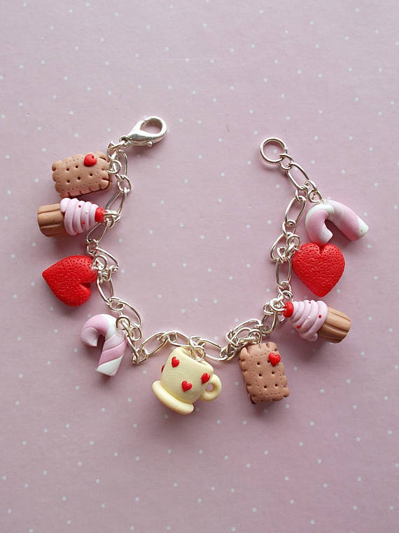 Valentines Jewelry - Hearts Bracelet Jewelry - Sweets Jewellery - Valentines Day Gift Ideas for her