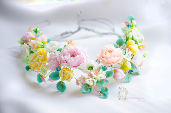 Polymer clay floral necklace ideas