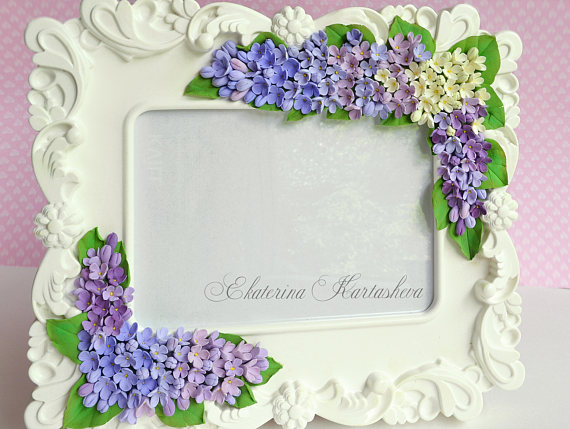 Birthday Gift Lilac Wedding Bouquet Gift For Couple Picture Frame