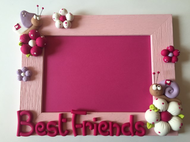 Best friend photo frame DIY step by step tutorial