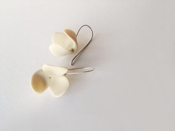 Polymer clay minimalist earrings